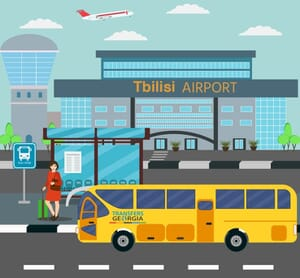Tbilisi Airport bus stop