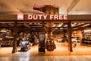Tbilisi Airport duty free shop
